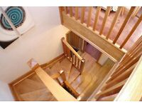 Stunning Handmade Solid Oak Staircase ! For Sale !