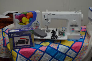Brother PQ1500S Sewing Machine and Grace Majestic Quilting Frame