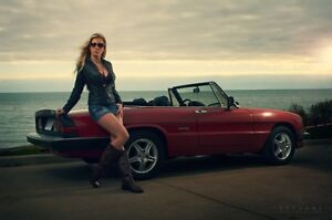 Alfa Romeo Spider Red Convertible New Black Top New Leather