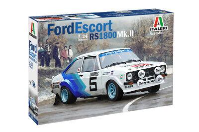 Italeri 3655 1/24 Scale Model Rally Car Kit Ford Escort RS1800 WRC '79 H.Mikkola