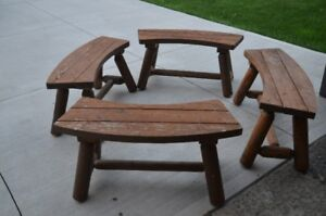 Cedar table and chairs