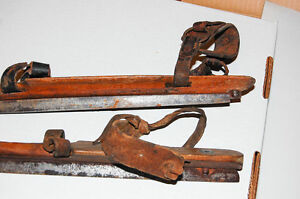Pair of antique skates (2 different mfg) wood and steel Cambridge Kitchener Area image 5