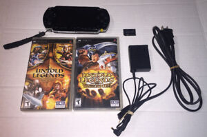Sony PSP -1001 Complete With 2 Games Card & Charger