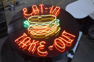 "Vintage Restaurant/Pub Neon Sign - ""Eat In - Take Out"""