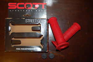 Vintage 1991 Scott USA Super Bike Grips RED New in Package obo