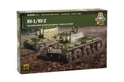 Italeri Kv1/Kv2 (Tank Driver Included) 1/35 Military Kit - W15763