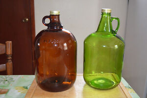Wine Making Jugs - Brown, Green and Clear (18 in total)