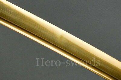 Handmade 1060 High Carbon Steel Gold Blade Japanese Samurai Katana Sword Sharp;