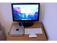Apple Mac Mini mid 2010 model inc keyboard, mouse and monitor.