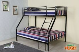 SAME DAY DELIVERY BRAND NEW TRIO SLEEPER METAL BUNK BED FRAME AND MATTRESS -WOW AMAZING OFFER