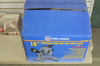 King Canada 10 Compound Miter Saw with Laser
