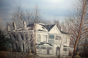 "Toronto Artist Roxann Vivian Smith ""The White House"" Watercolor Stratford Kitchener Area image 9"