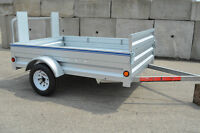 5X7'3 Galvanized Trailer! Extends to 8'6! Price can't be beat!!