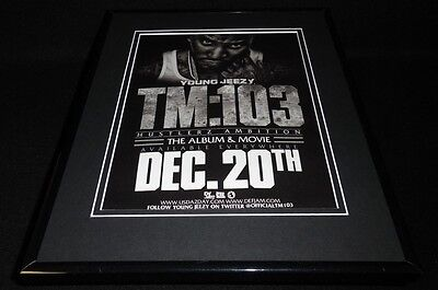 Young Jeezy 2012 TM:103 Hustlerz Ambition Framed 11x14 ORIGINAL Advertisement