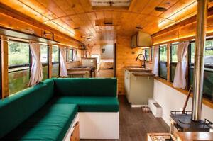 Custom Skoolie (School bus), Sprinter & Van Camper Conversions