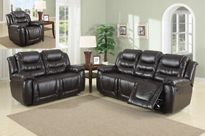 Recliner Sofa Set all 3 pcs. Love Seat with Console cup holder