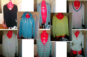 8 NEW/USED WOMENS SWEATERS M/L/XL - $15 EACH