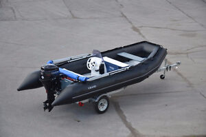 GRAND foldable inflatable boat R460B - 15' long, 50HP max, new