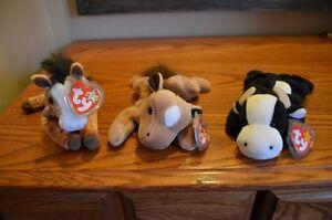 Ty Beanie Babies *Retired & Rare* - Set of 9 Farm Animals Sarnia Sarnia Area image 2