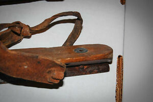 Pair of antique skates (2 different mfg) wood and steel Cambridge Kitchener Area image 2