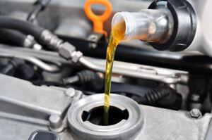 Spécial: changement d'huile avec inspection gratuite 25$