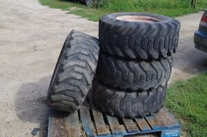 skid steer rims with rubber