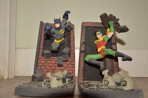 Batman and Robin porcelain book ends - Paquet and McDaniel Edmonton Edmonton Area image 2