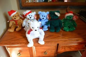 Ty Beanie Babies *Rare & Retired* - Set of 12 Christmas Beanies Sarnia Sarnia Area image 1