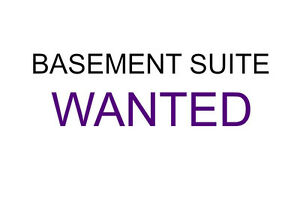 ISO: Basement Suite For April or May!!