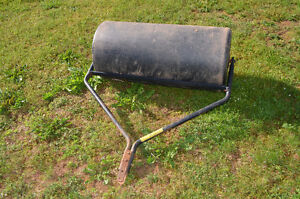 """Poly 38"""" lawn roller."""