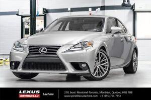 2015 Lexus IS 250 PREMIUM AWD; CUIR TOIT CAMERA LEXUS CERTIFIED