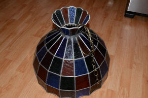 Stained Glass Ceiling Hanging Lamp Shade Tiffany style handmade Kitchener / Waterloo Kitchener Area image 7