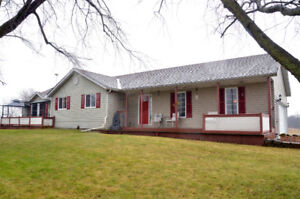 1.96 ACRE PROPERTY WITH WELL MAINTAINED, 3 BEDROOM BUNGALOW