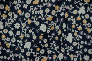 New sewing fabric-rayon print in black with yellow florals
