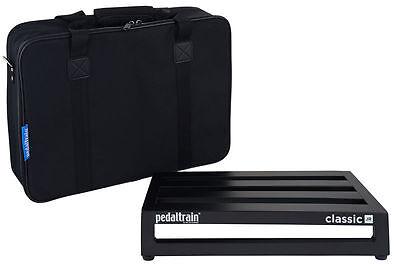 "Pedaltrain Classic Jr 18"" x 12.5"" 4-Rail Pedalboard w/ Soft Case PT-CLJ-SC NEW"