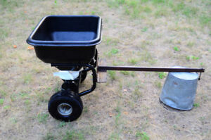 SPREADER ,PULL BEHIND FOR GRASS SEED +FERTILIZER