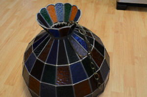 Stained Glass Ceiling Hanging Lamp Shade Tiffany style handmade Kitchener / Waterloo Kitchener Area image 2