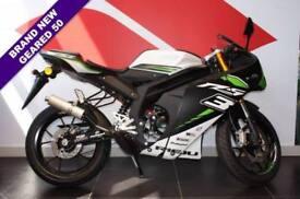 2017 17 RIEJU RS3 50CC RACING LIQUID COOLED, BLACK/GREEN, BRAND NEW!