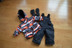 Snow suit and gloves (size 2)