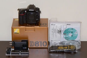 Nikon D810 body with genuine Nikon vertical grip and 3 batteries