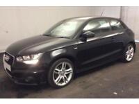 2011 BLACK AUDI A1 1.6 TDI S LINE DIESEL MANUAL 3DR CAR FINANCE FR £29 PW
