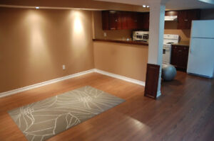 Modern and brightly lit 1 bed basement apartment at Mavis/Dundas