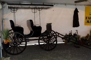 Antique Aimish Horse Surrey Carriage Buggy 100years old For Sale Prince George British Columbia image 2