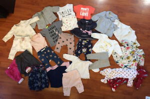 Baby girl 0-3 month clothing lot