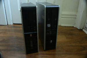 2X HP Compact, Dual Core 3GHz, 250GB-HDD, 4GB-RAM sous Linux