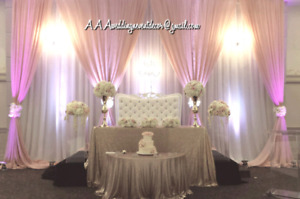 BACKDROPS AND WEDDINGS DECORATION