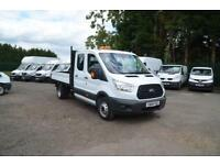 2016 FORD TRANSIT 2.2 TDCI 350 125ps Long Wheel Base Double Cab Tipper DIESEL