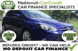 Ford Focus 1.0 ECOBOOST ZETEC S 125PS Good / Bad Credit Car Finance (blue) 2014