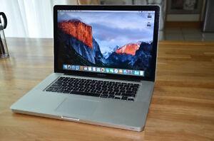 """Macbook Pro 15"""" mid 2010 / Core i5 / 8g / 1tb / el capitan"""