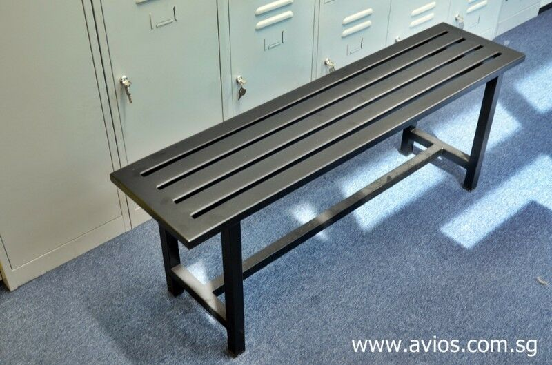 Locker room benches for swimming pool changing room and gym